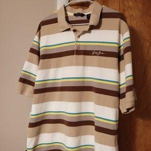 Sean John Polo Striped Shirt Beige XXL